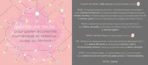 Conférence Faisons une pause pour parler économie, numérique et réseaux ... aussi au féminin !